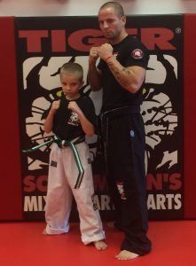 LJ used martial arts to leearn how to stand up to bullies