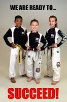 Karate kids with confidence and self-discipline